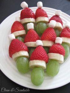 xmas fruit santa