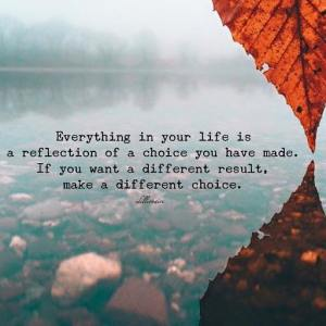 reflection of a choice