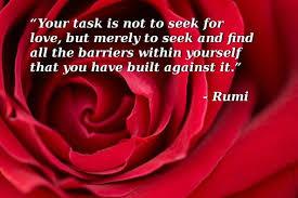 rumi seek love barriers
